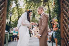 Wedding ceremony arch Stock Photos