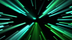 Green lights moving fast Stock Footage