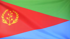 Flag of Eritrea Stock Footage