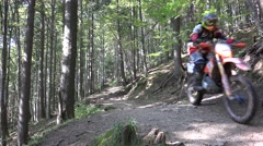 4K Extreme Motorbike, Racing Motorcyclist, Motorcross, Motorcycle Race Mountains Stock Footage