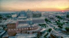 Sunrise Aerial Over Greenville South Carolina Stock Footage