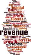 Revenue word cloud Stock Illustration