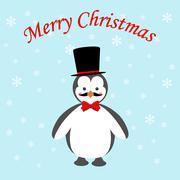 Penguin icon - stock illustration