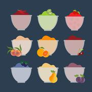 Fruit berry jam Stock Illustration