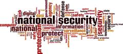 National security word cloud Stock Illustration