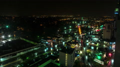 Niagara Falls City at Night Time-lapse Stock Footage