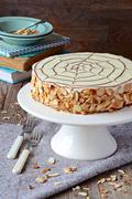 Homemade Esterhazy cake - stock photo