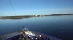 Ship in port of Nynäshamn Stock Footage