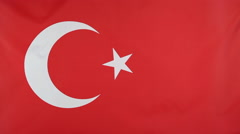 National flag of Turkey Stock Footage
