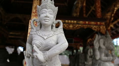 Ancient Stone Sculpture - Statue in the temple, Bali, indonesia Stock Footage