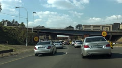 South African Traffic in Johannesburg - stock footage