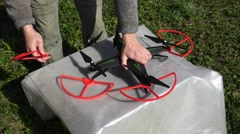 Protection from the drone of the propellers. 4K. Stock Footage
