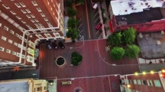 Aerial of Main Street Greenville SC Stock Footage