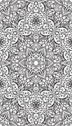 Rich decorated calligraphic outlined stroke monochrome seamless pattern. Vect Piirros