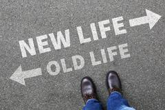 Old new life future past goals success decision change - stock photo