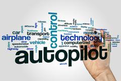 Autopilot word cloud Stock Photos