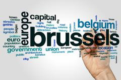Brussels word cloud - stock photo