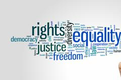 Equality word cloud - stock photo