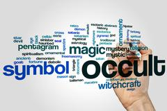 Occult word cloud - stock photo