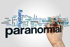 Paranormal word cloud Stock Photos
