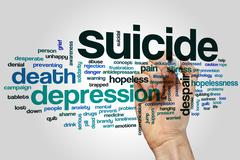 Suicide word cloud - stock photo