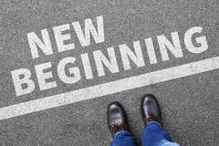New beginning beginnings old life future past goals success decision change - stock photo