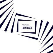 Geometric Vector Black and White Background - stock illustration