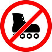 No skate, rollerskate prohibited symbol. Vector. - stock illustration