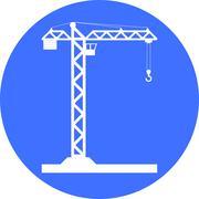 Building Tower crane icon - vector. - stock illustration