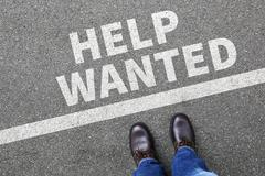 Help wanted jobs, job working recruitment employees business concept - stock photo