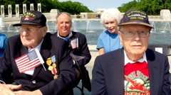 WWII vets at the V-E memorial celebration in Washington, D.C. Stock Footage
