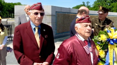 WWII vets at the V-E memorial celebration in Washington, D.C. - stock footage