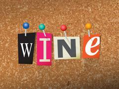 Wine Pinned Paper Concept Illustration Stock Illustration