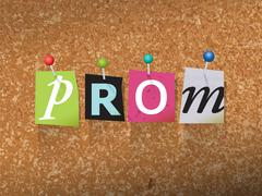 Prom Pinned Paper Concept Illustration - stock illustration