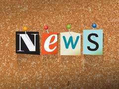 News Pinned Paper Concept Illustration Stock Illustration