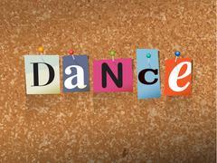 Dance Pinned Paper Concept Illustration - stock illustration