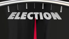 Election Voting Democracy Campaign Nomination Speedometer 3d Illustration Stock Footage