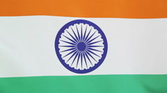 Closeup of the national flag of India Stock Footage