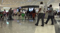 Hundreds of Shoppers Walk Through the Mall of Africa in Johannesburg Stock Footage