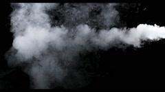 Smoke - 4K - long. Medium dense smoke totally disappearing. 120 fps Real shot Stock Footage
