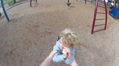 POV of Little Boy Being Swung Around In Circles Stock Footage