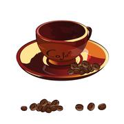 Cup Of Coffee Illustration - stock illustration