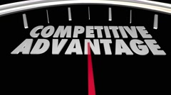 Competitive Advantage Better Product Price Service Speedometer 3d Illustration Stock Footage
