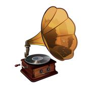 Gramophone Vector Illustration - stock illustration