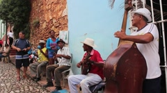 Cuban Street Band Mid Stock Footage