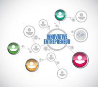 innovative entrepreneur people diagram sign - stock illustration