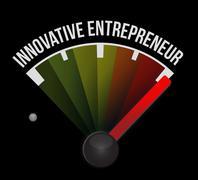 Innovative entrepreneur meter sign Stock Illustration