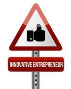 innovative entrepreneur like attention sign - stock illustration
