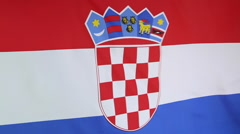 Closeup of Croatia flag Stock Footage