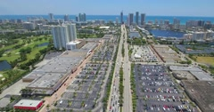 Aerial tour Hallandale Beach FL Stock Footage